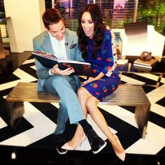 How cute are Jason Kennedy and Catt Sadler?!!!  Sooo adorable.  Love them!  So fun.  LOVE E! News Weekend!!