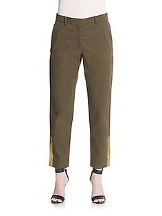 Suno Cotton Trousers - Green - Size 2