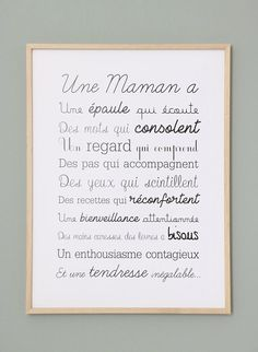 Exclusive poster a MOM Affiche Exclusive Une Maman A Jolie Phrase, Quote Citation, Mothers Day Quotes, Positive Attitude, Quotes Positive, Quote Of The Day, Letter Board, Affirmations, Life Quotes