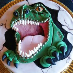 Torta Dinosaurio en 2D