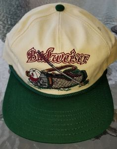 Vintage Budweiser Beer Golf Snapback Hat Masters PGA Advertising Ball Cap  USA  Unbranded  snapback 0351a182a76e