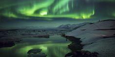 A Photo Of The Strange And Amazing Natural Phenomena Known As An Aurora Borealis