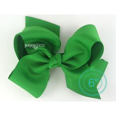 Extra Large Hair Bow Emerald Kelly Green Hair Bow 6 6 Inch Hair Bows... ($8.95) ❤ liked on Polyvore featuring accessories, hair accessories, barrettes & clips, grey, alligator hair clips, bow hair clips, bow hair accessories, hair clip accessories and hair bows