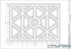 Coffered Ceiling Design Drawing - Diagonal 12