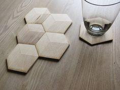 etched wood coasters via putitonme $12