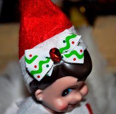 Elf on the Shelf. Girl Elf Hair Bow Headband!