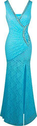 Angel-fashions Damen V-Ausschnitt Spitze Teilt Rusche Perlstickerei Mantel Kleid, http://www.amazon.de/dp/B01GFLXY78/ref=cm_sw_r_pi_s_awdl_dVaNxbKE5R5WY