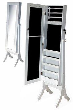 Muebles de madera con espejo gabinete de la joyer a imagen for Espejo pared cuerpo entero