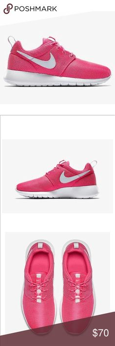 bcac17e28dd8b Nike roshe one pink white women s shoes size 7 Brand new without box. Size  5.5