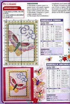 Schema punto croce Farfalle 16