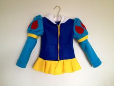 Disney Princess Inspired Snow White Fleece Girls hoodie shirt (Child sizes) via Etsy