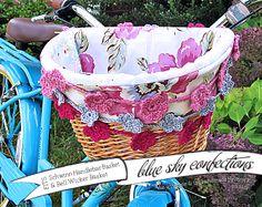 Blue Sky Confections: Bike Basket Liners—Custom Orders