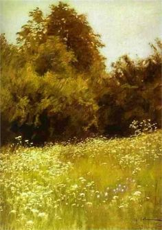 Isaac Levitan - Meadow on the Edge of a Forest, 1898