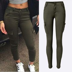 New Fashion High Quality Army Green Woman Sexy Low rise Jeans Ladies Skinny Jean Slim Femme plus size