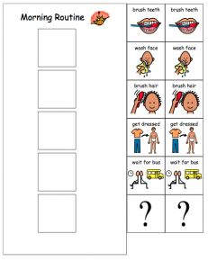 Do2learn.com: Free printable templates for visual schedules ...