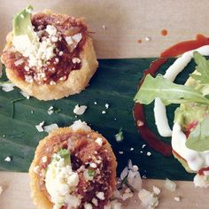 mini sopes from frontera grill