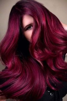 Hair Color 2018 Burgundy Hair – Is It For You? ❤️ Check out these gorgeous burgundy hair colors for a sexy, sultry look that will turn heads wherever you go. Red is one of the most versatile hair colors. Hair Color 2017, Red Hair Color, Cool Hair Color, Color Red, Magenta Hair, Burgundy Hair, Burgundy Color, Maroon Hair, Guy Tang