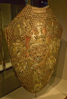 Virgin Mary Chasuble, Sweden, This is believed to be the work of the workshop of Albertus Pictor about 1480.