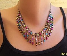 MULTICOLOR NECKLACE by essu on Etsy, $12.00:
