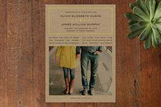 Vintage Kraft Wedding Invitations by Waldo Press at minted.com SO CUTE!!!