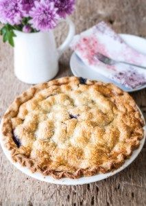 Black Raspberry and Cherry Pie with a Gluten Free Crust - Strawberries For Supper Gluten Free Desserts, Gluten Free Recipes, Dessert Recipes, Pie Recipes, Baking Recipes, Vegetarian Recipes, Black Raspberry Recipes, Gluten Free Pie Crust, Berry Pie