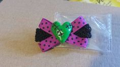 Frankinheart hair clip by mommymisfit on Etsy, $3.00