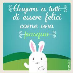Cartolina di Pasqua con coniglietto