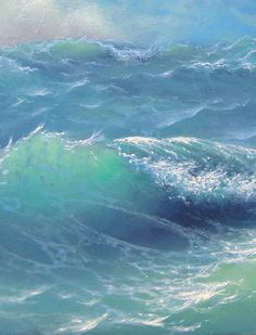 Blue green waves