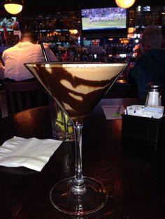 Raspberry sundae martini