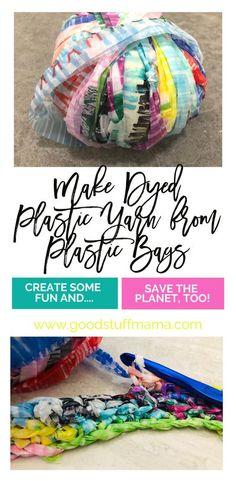 Reuse Plastic Bags, Plastic Bag Crafts, Plastic Bag Crochet, Fused Plastic, Plastic Grocery Bags, Plastic Recycling, Storing Plastic Bags, Plastic Spoons, Plastic Bottles