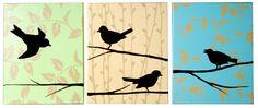 DIY songbird canvas