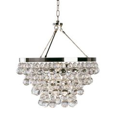 Bling Chandelier, Polished Nickel -Open Box