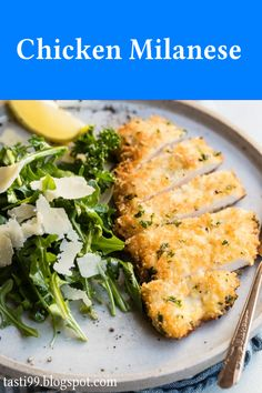 Milanese Recipe, Chicken Milanese, 2 Eggs, Dinner Recipes, Recipe Chicken, Stuffed Peppers, Dishes, Meat, Food