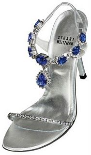 Name: Tanzanite Heels  Designers: Stuart Weitzman and Le Vian  Description:  Decorated with 28 carats of diamonds and well-cut 185 carats of quality tanzanite.   The most spectacular part of the shoes is the 4½ inch heels that encrusted with 595 carats of Kwiat platinum diamonds.  Value:  $ 2,000,000.00