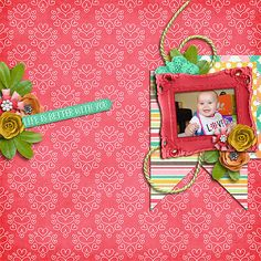 Digital Scrapbook Page by Cindy | Friends Forever by Bella Gypsy