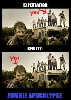 Haha! The Walking Dead. TWD humor...