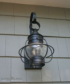 Cape Cod Style Home Exterior Light Fixture