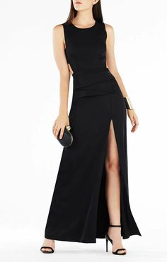 Shop evening gowns and long formal dresses at BCBG. Browse a variety of beautiful gowns that can be worn to any formal occasion. Steal the show in BCBG's evening gowns! Midi Cocktail Dress, Womens Cocktail Dresses, Peplum Gown, Gown Dress, Black Sequin Dress, Black Satin, Black Peplum, Combo Dress, Bcbg Dresses