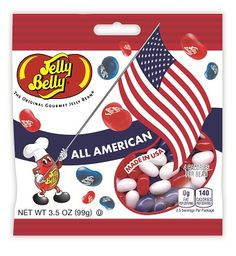 Red, white and blue Jelly Beans for Memorial Day!