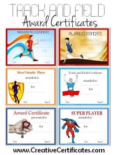 Sports award certificate template certificates for teachers track and field award certificate templates yelopaper Gallery