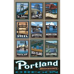 Portland Bridgetown Scenic Throw by Paul A. Portland Bridges, Portland City, Portland Oregon, Ross Island, Oregon Waterfalls, Bridgetown, Over The Bridge, Living In San Francisco, Cannon Beach