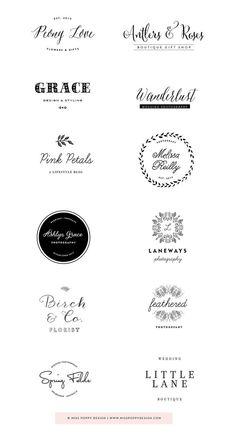 Miss Poppy Design- Pre Designed Logos 2 Logo, Logo Branding, Branding Design, Restaurant Branding, Web Design, Graphic Design, Decor Logo, Bakery Logo, Photoshop