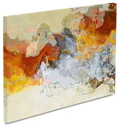 Expresionismo abstracto la impresión de lienzo tríptico de