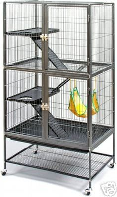 #485 Prevue Pet Products Feisty Ferret Cage Home - Fennec Foxes & Friends