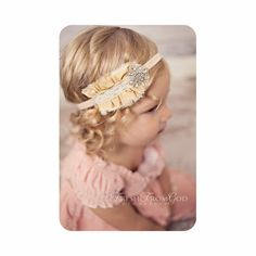 Baby Headbands Vintage Headband Baby Headband Newborn Headband Dupioni Silk Photo Prop Couture Headband Infant Headband NO.353