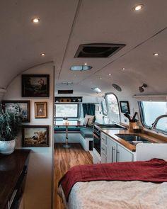 Tiny Home Tour: DIY Remodel of a Airstream Trailer Airstream Bambi, Airstream Basecamp, Airstream Vintage, Airstream Trailers For Sale, Airstream Living, Airstream Campers, Airstream Remodel, Airstream Interior, Trailer Interior