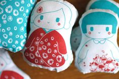 Kokeshi Fabric Dolls & their Cosy