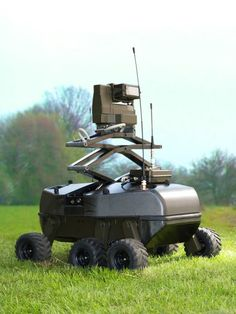 Developed by Rheinmetall Defense, Foxbot is a small radio-controlled robot featuring semi-autonomous capabilities, supporting surveillance and recce missions. The robot is fitted with EO and acoustical sensors and is designed to operate at the tactical level. The robot uses a mast mounted omni-directional acoustic sensor, enabling location and tracking of detected signals with stereo acoustic capability, enabling effective spatial reconstruction of the signal.