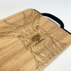 Stag Head, Serving Board, Cutting Boards, Kitchen Accessories, Black Metal, Birthday Gifts, Tableware, How To Make, Handmade