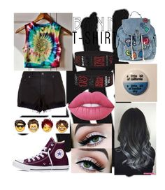 """Untitled #444"" by maya-vallin ❤ liked on Polyvore featuring rag & bone, Converse, Lime Crime, Topshop, bandtshirt and bandtee"